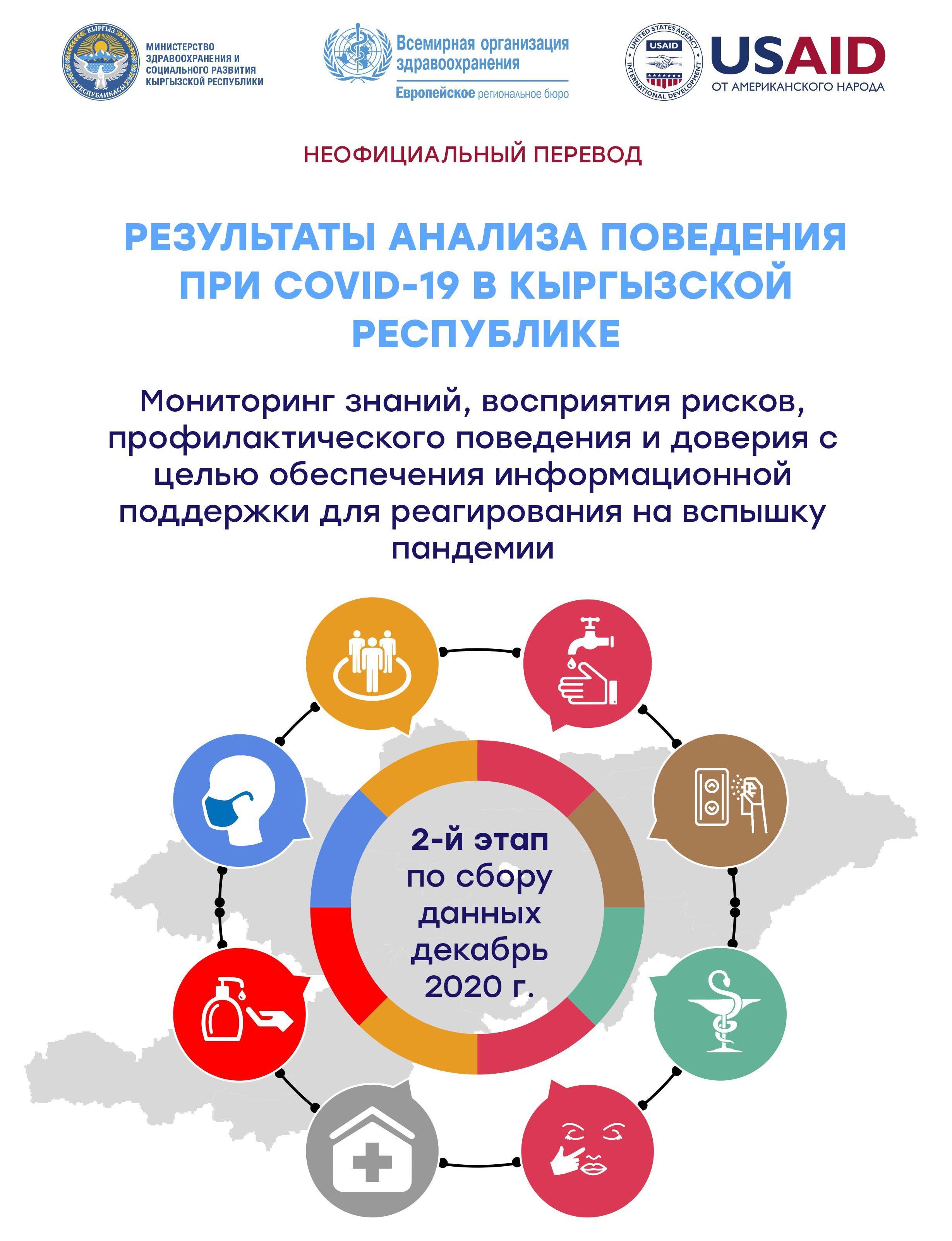 Результаты анализа поведения при COVID-19 в Кыргызской Республике | 2 этап Декабрь 2020 г.