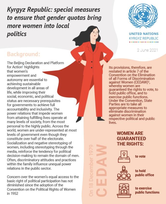 UN Brief: Special measures to ensure that gender quotas bring more women into local politics
